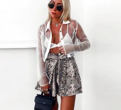 Zhymihre Snake Print High Waist Shorts Women 2019 Spring Lace Up Ruched Shorts Mujer Casual Pantalones Cortos Mujer Bow Shorts, High Waisted Shorts, Casual Shorts, Loose Shorts, Print Shorts, Flowy Pants, Fashion Pants, Fashion Outfits, Modest Fashion