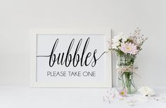 Instant Download Bubble Send Off Sign  by IrresistibleInvites1