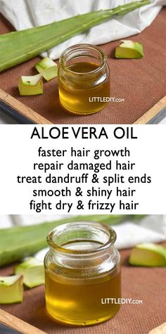 Aloe vera is used in a lot of skin care, hair care and healthy recipes. It is one of the best skin care and hair care ingredients! Aloe vera oil is available commercially and is certainly expensive. Below is how you could make your own aloe vera oil using Beauty Hacks For Teens, Damaged Hair Repair, Fast Hairstyles, Straight Hairstyles, Girl Hairstyles, Smooth Hair, Beauty Care, Beauty Tips, Beauty Products