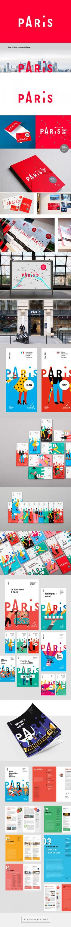 Charte graphique de l'Office de Tourisme de Paris - Graphéine - Agence de communication Paris Lyon... - a grouped images picture - Pin Them All