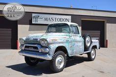 1959 GMC  NAPCO  PICK UP 4X4 Red Wood Forestry Truck   Wheat Ridge, CO    Mastodon 4X4 OLD TRUCKS VINTAGE TRUCKS