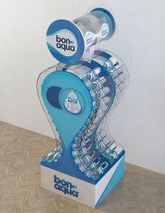Different types of trade equipment for TM BonAqua Pos Display, Display Design, Booth Design, Display Stands, Banner Design, Plastic Bottle Design, Water Bottle Design, Pos Design, Retail Design