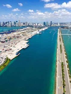 Miami from a helicopter is amazing!