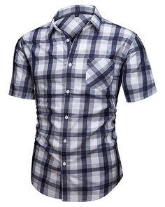 Jandukar Women Long Sleeve Boyfriend Button Down Plaid Flannel Shirt S-XXL