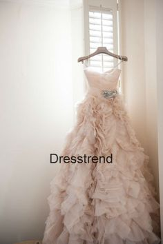 Aline Long Champagne Wedding Dress  Cheap Champagne by DressTrend, $399.99