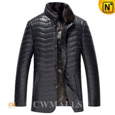 CWMALLS Quilted Down Filling Jackets for Men CW846082 Warm leather down filled jackets for men, superior lambskin leather shell with quilted details, 90% down 10% feather for great warmth, features in removable mink fur collar and useful side pockets, such down jackets are nice for cold days. www.cwmalls.com PayPal Available (Price: $597.89) Email:sales@cwmalls.com