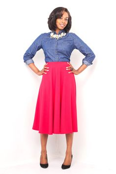 Red Circle Midi Skirt – The Modest Lady Boutique