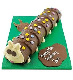 Perfect for a garden party or a caterpillar/butterfly themed party. Giant Chocolate, Chocolate Sponge, White Chocolate, Colin The Caterpillar Cake, Alice In Wonderland Theme, Butterfly Party, Chocolate Buttercream, Cake Creations, Gingerbread Cookies