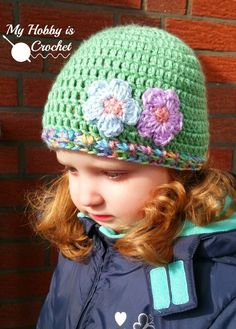 aa27791f04a 239 Best Girl Hats To Crochet images in 2019
