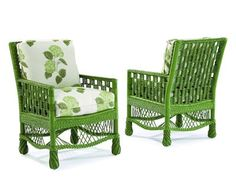 Charming Stylish Green Wicker Chair Find