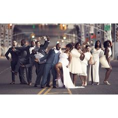 19 Bridal Parties Who Perfected The Mismatched Dress Trend One Sweet Day, Curvy Bride, Wedding Weekend, Black Love, Wedding Photoshoot, Dream Wedding Dresses, Getting Married, Just In Case, Wedding Photography