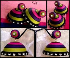 Today I am featuring my own paper quilling Jhumkas. :) Kriti Handmade Jewelry is my new venture to showcase my creative world.