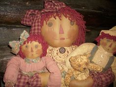 Primitive Handmade Raggedy Ann Doll Annie Andy Bear Antique Quilt OOAK   eBay