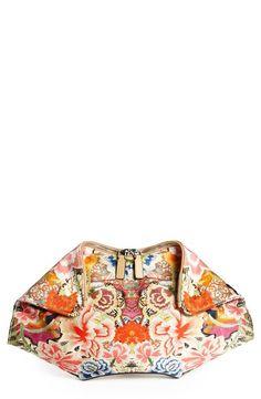 Pretty Floral Print Clutch by Alexander McQueen