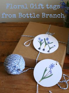 Cheerful flowery gift tags, set of 6 from Bottle Branch, via etsy