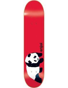 Enjoi Panda Deck-7.6 Red R7 and other Enjoi Skateboard Decks at Social Skateboarding