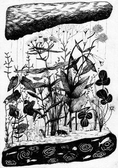 """Dygtige Simon Væth har lavet denne skønne illustration: """"It looks like rain and thunder"""" http://www.simonvaeth.dk/"""