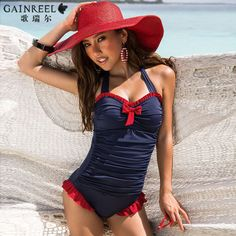 1446817c2b4 Free Shipping Ladies 2014 Blue Sexy one piece Swimwear Triangle Women s  swimwear US  70.20 To Buy