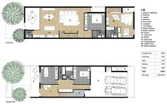 Terrace house with studio plan
