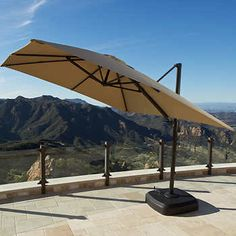 Portofino Resort Full-Motion Umbrella Heather Beige