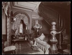 """An ornate sitting room in the Blakely Hall residence at 11 West 45th Street, New York"" 1896-98"