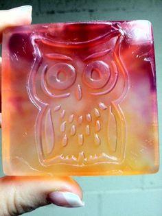 Tie Dye Owl Soap