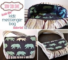 Testing Out Zaaberry's Kids' Messenger Bag Tutorial — Sew Can She | Free Daily Sewing Tutorials