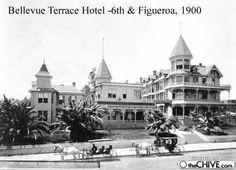 Bellevue Terrace Hotel, 6th and Figueroa, Los Angeles, 1900