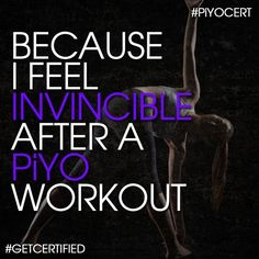 PiYo Strength makes me feel strong  flexible.  www.beachbodycoach.com/piyoangela