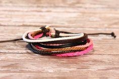 multi strand leather adjustable bracelet by Onlybygracejewelry, $2.50