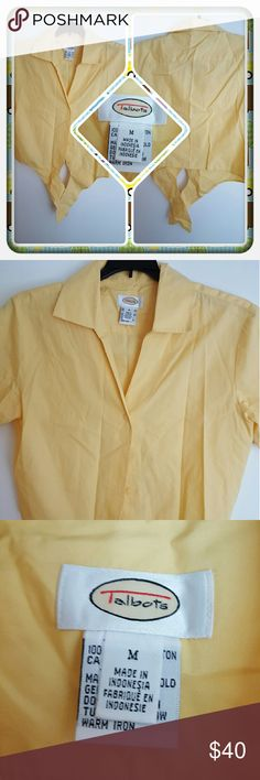 💛 Woman's Crop Top Size M 💛 Woman's Crop Top With Tie On Front From Talbots Size M. I'm Assuming This Is Petite Because All My Friends Clothes Are. This Appears To Be New Or Like New In Condition Great For Spring & Summer 🚫 PAYPAL 🚫 TRADES 🚫 LOWBALLING PRICED LOW TO SELL 💛 Talbots Tops Crop Tops