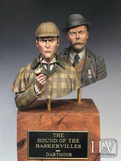 Sherlock Holmes and Dr. Watson  Sculpted by Raúl García Latorre  Painted by José Hernandez