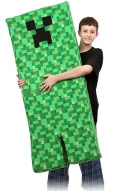 Minecraft Creeper Body Pillow - Must make for Ronan!