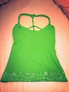 DYI shirt. Bleach art on bottom! :)