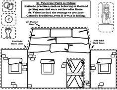 February Catholic Saint Calendar Activities - Saint Valentine