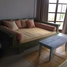 teak wood extra king size sofa bed at the led tv room