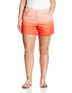 Fashion Bug Womens Plus Size Mai Tai Ombre Short. www.fashionbug.us #curvy #plussize #FashionBug