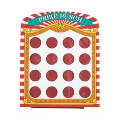 Step right up and see if you're a winner! With this Carnival Punch Game, everyone will be! Add this carnival game to your party supplies and carni. Carnival Party Games, Carnival Supplies, Carnival Games For Kids, Slumber Party Games, Carnival Birthday Parties, Carnival Themes, Circus Birthday, Birthday Party Games, Party Supplies