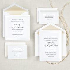 Pearl Pleasure Wedding Invitation
