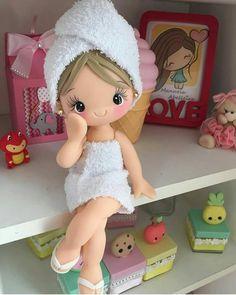 Polymer Clay Figures, Cute Polymer Clay, Cute Clay, Polymer Clay Dolls, Polymer Clay Projects, Diy Clay, Needle Felting Tutorials, Pasta Flexible, Doll Maker
