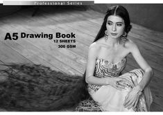 Project of vertical cover for drawing book, with Queen of Long Hair Alechka Nasyrova. Strapless Dress, Queen, Long Hair Styles, Book, Drawings, Cover, Dresses, Fashion, Strapless Gown