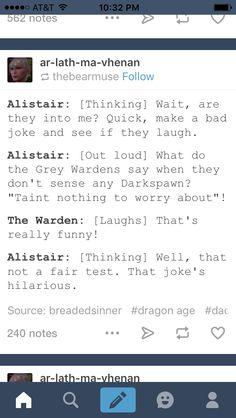 Alistair humor lol
