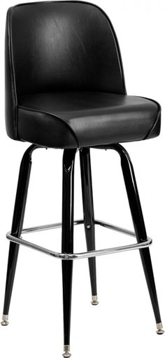 Heavy Duty Bucket Seat Bar Stool with Steel Frame