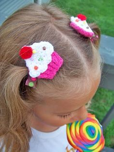 Cupcake Hair Clippies