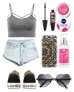 """Untitled #196"" by breezyskittles ❤ liked on Polyvore featuring WithChic, Converse, Clinique, Maybelline, Nivea, Victoria's Secret and Casetify"