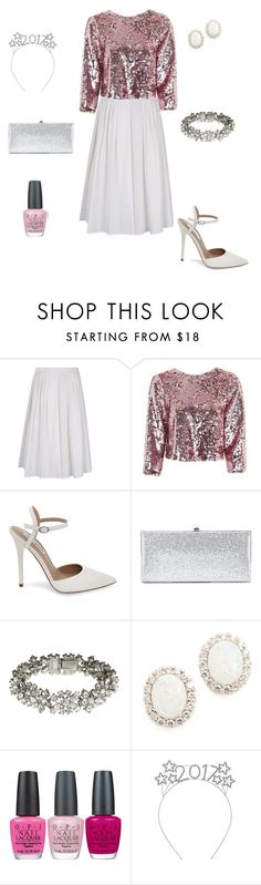 """""""New Years Outfit 2"""" by mysterious-chocolate-fox ❤ liked on Polyvore featuring RED Valentino, Topshop, Steve Madden, Jimmy Choo, Ben-Amun, Kenneth Jay Lane and OPI"""