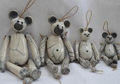 Sur commande: Petit ours en céramique Raku : Chambre d'enfant, de bébé par…