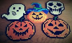 Halloween perler beads by Crank Up Creations