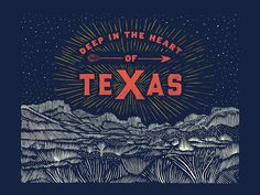 Here's a first look at a small series of posters I had the immense pleasure of developing in the past few weeks - all for a small Texas heritage boutique out of Houston. This piece, the landscape i...