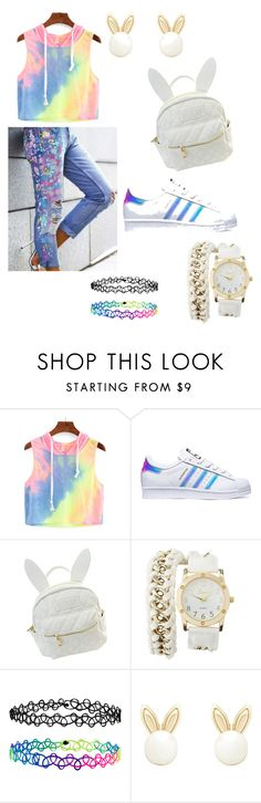 """""""Untitled #47"""" by faaliyah49 on Polyvore featuring adidas, cutekawaii, Charlotte Russe, Accessorize and Lipsy"""